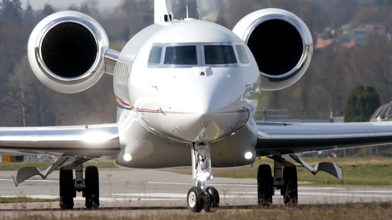 Gulfstream G650 JCB Landing  Take Off at Bern Airport  YouTube