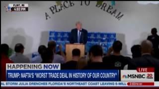 flint pastor interrupts trump when his speech turns political