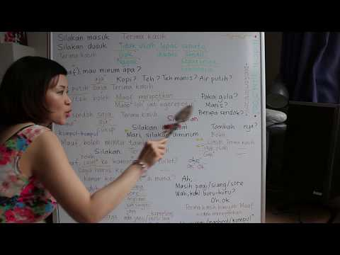 LEARN INDONESIAN LANGUAGE #70 VISITING SOMEONE'S HOUSE