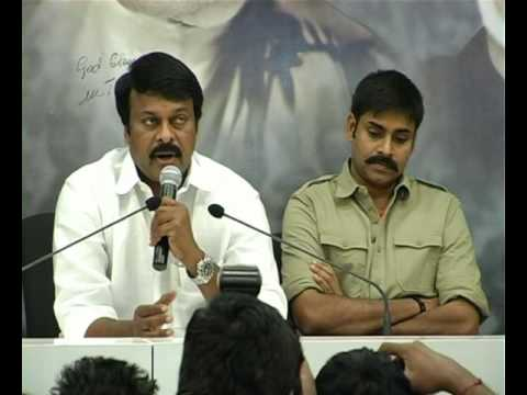 PRP CHIRANJEEVI PC ON PAVAN KALYAN AS A YUVARAJYAM VIS