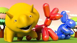 学习颜色和学习动物:做气球 👶 幼儿教育卡通 Chinese Mandarin Cartoon