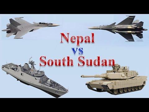 Nepal vs South Sudan Military Comparison 2017