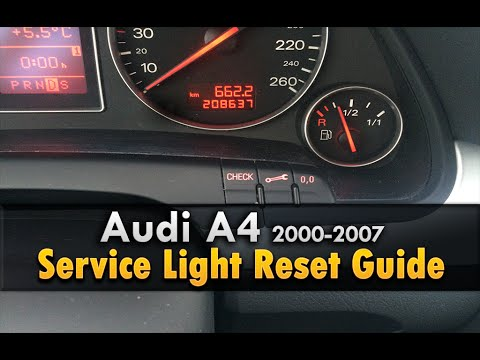 Audi A4 Service Light Reset 2000-2007
