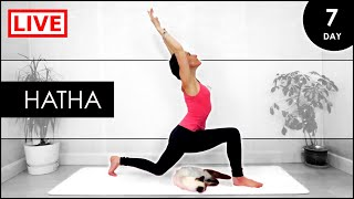 HATHA Yoga for BEGINNERS / 31 Day LIVE Yoga At Home Challenge (Day 7)