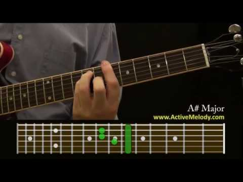 How To Play an A# (Sharp) Chord On The Guitar - YouTube