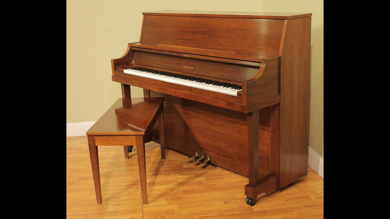 yamaha p22 45 upright piano walnut finish youtube