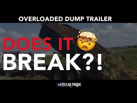 Dump Trailer - Texas Made. Texas Tough. TEXAS PRIDE! (TM)