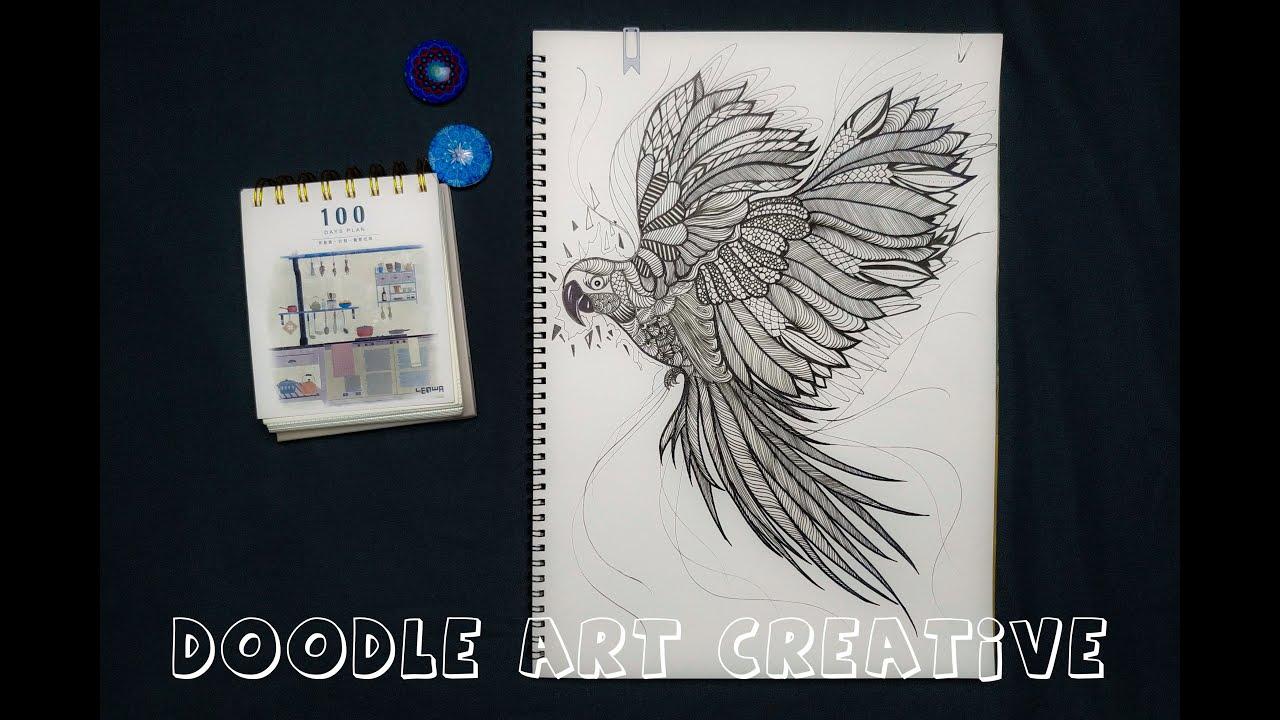 The Parrot | 015 Doodle Art Creative