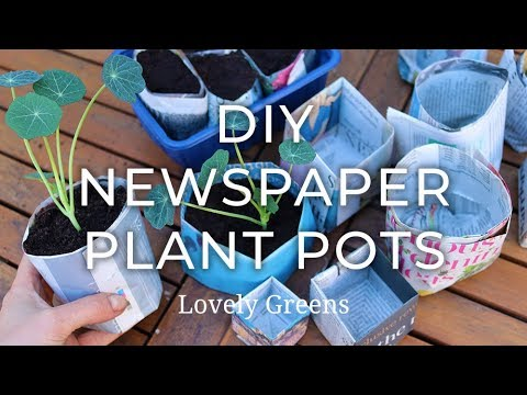 Two ways to make Newspaper Plant Pots (the simple way + the origami method)