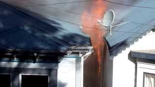 House Fire in Mount Cook, Wellington, New Zealand (2 houses burning)
