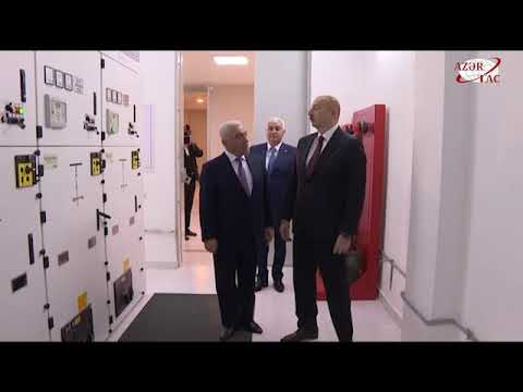Президент Ильхам Алиев принял участие в открытии подстанции «Дюбенди»