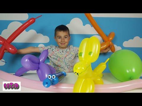 игрушки из шариков колбасок своими руками видео