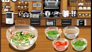 Мультик игра Готовим салат из морепродуктов (Seafood Salad)