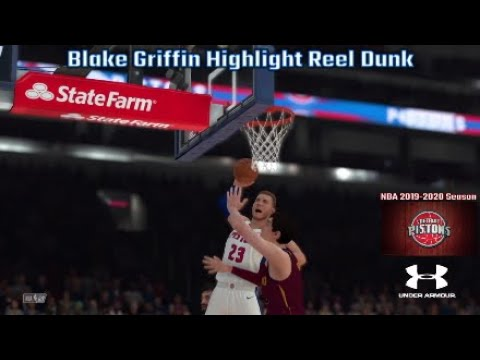 Blake Griffin Preforms Highlight Reel Dunk! | NBA 2019-2020 Season: Cavaliers @ Pistons | NBA 2K20