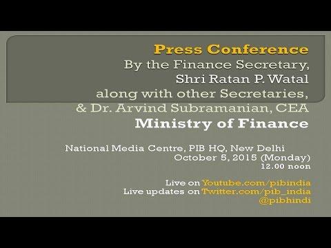 Press conference by Finance Secretary