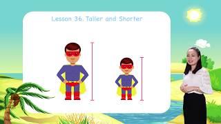 Math for kids   Lesson 36. Taller and Shorter - Measurement