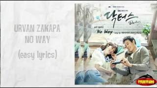 Gambar cover Urban Zakapa - No Way Lyrics (easy lyrics)