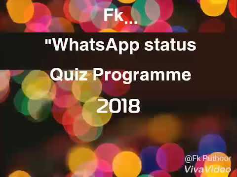 Whatsapp Status Quiz Program