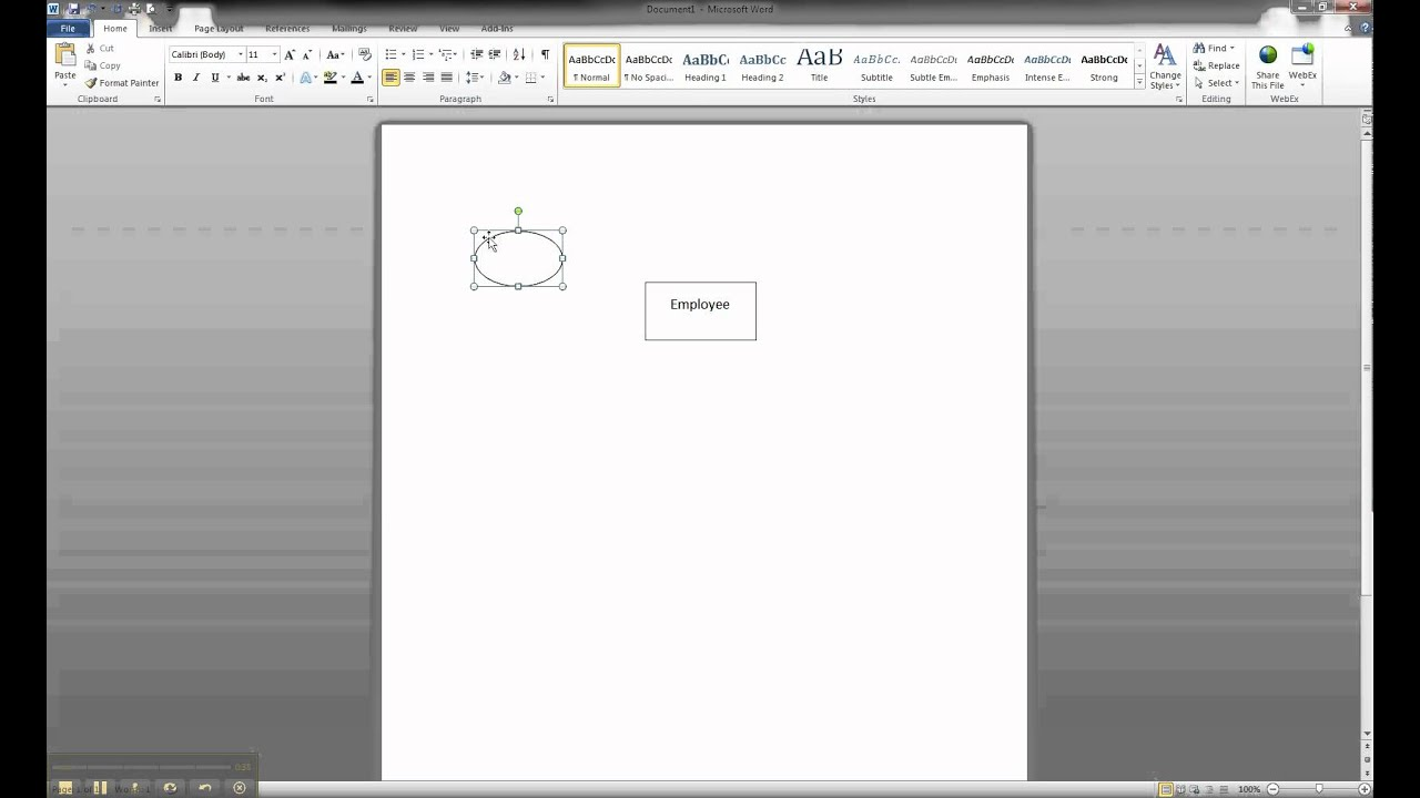 er diagram in ms word     creating an atomic attribute   youtubeer diagram in ms word     creating an atomic attribute