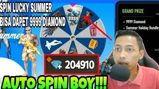 BISA JADI AUTO SULTAN! Spin Event Terbaru Lucky Summer Di Free Fire Bisa Dapet 9999 Diamond