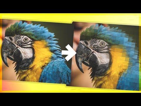 Пиксельный эффект в фотошопе