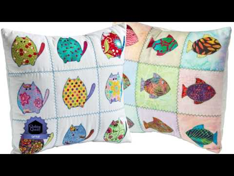 Quilting Quickly: Cat? Fish? Bright Throw Pillows!