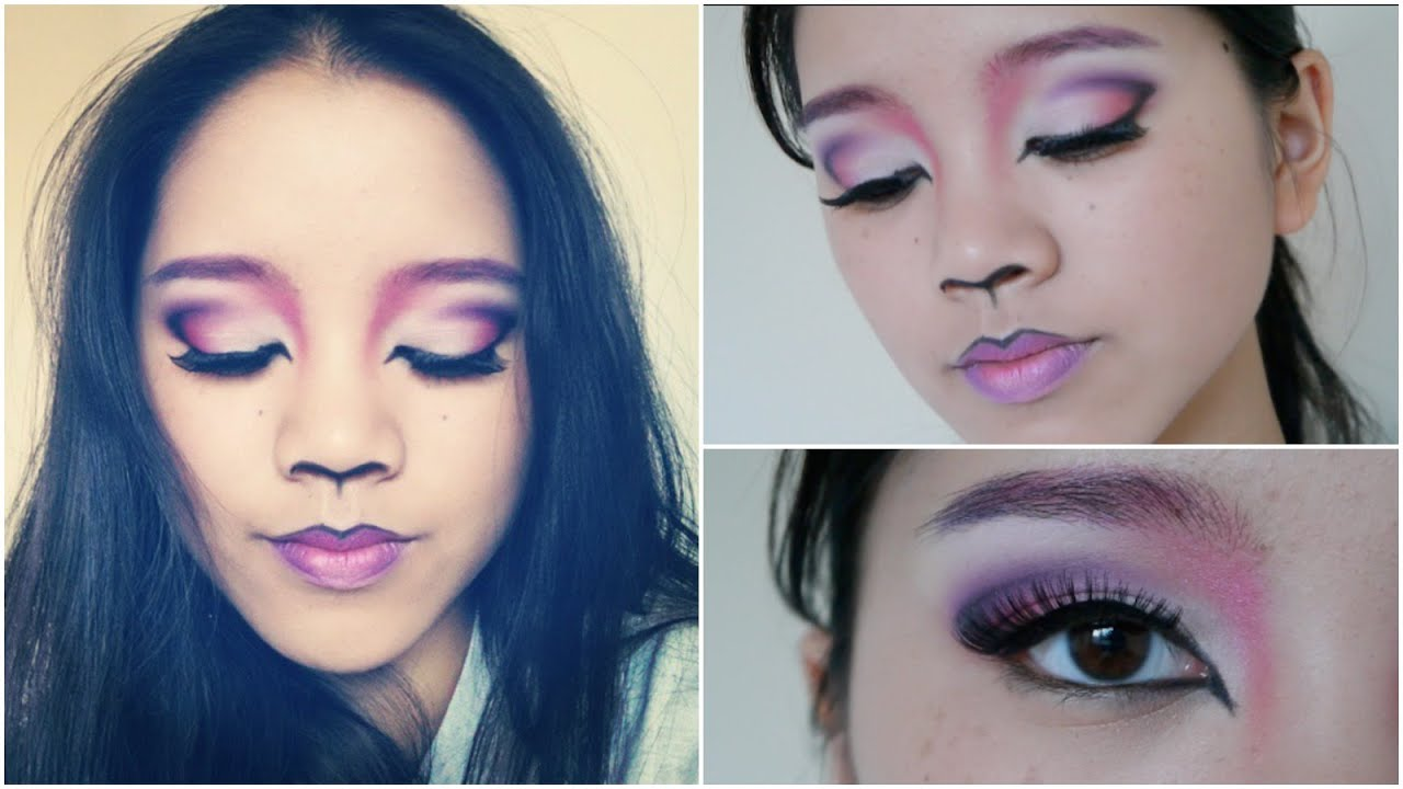 Halloween Tutorial: Cheshire Cat Inspired Makeup | Drugstore - YouTube