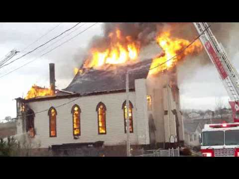 Fire at St. Mary's Polish Church in Whitney Pier