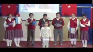 Söğütlü Cumhuriyet ortaokulu oraturium gösterisi