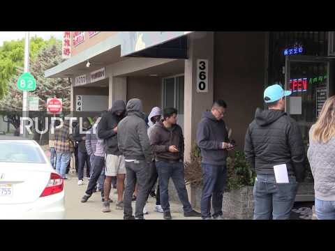 USA: Dozens queue to enter gun store amid coronavirus panic buying in California