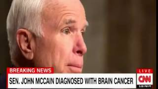 Sen John McCain diagnosed with Brain Cancer Breaking News from Dr  Sanjay Gupta