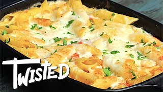 Shrimp Alfredo Pasta Bake Recipe | Family Dinner Ideas | Shrimp Recipes | Twisted