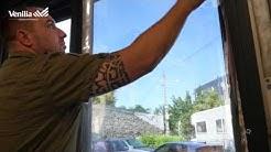 Pose de Film solaire adhésif miroir sans tain sur fenêtre