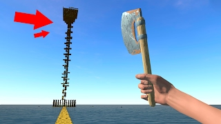 THE HIGHEST TOWER IN THE GAME! (Raft Multiplayer)