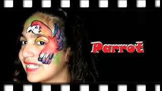 Parrot Face Painting Eye Design