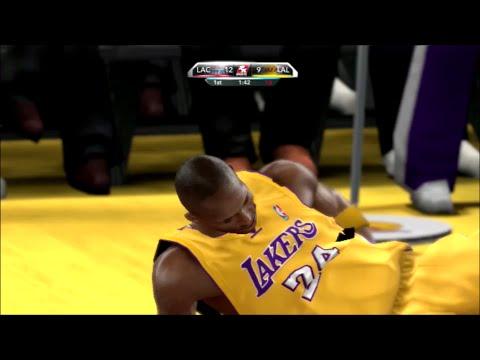 2K10 LA Clippers @ LA Lakers: Kobe Injured?!