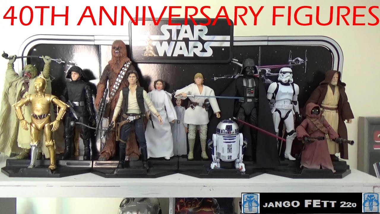 Brand New Star Wars 40th Anniversary Legacy Pack Darth Vader and Display
