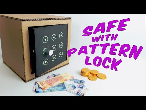 How to make a safe with a pattern lock from cardboard | DIY