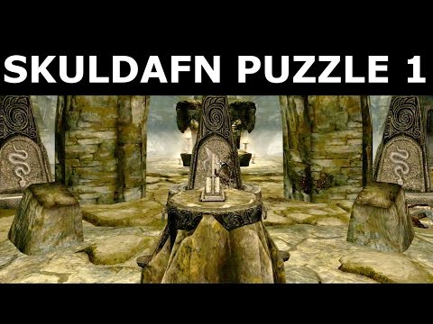 "Skyrim - Skuldafn Temple Stone Puzzle 1 - ""The World-Eater's Eyrie"" Quest"