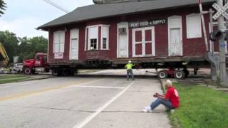 Historic Wheeling And Lake Erie Railway Train Depot Moved In Kent