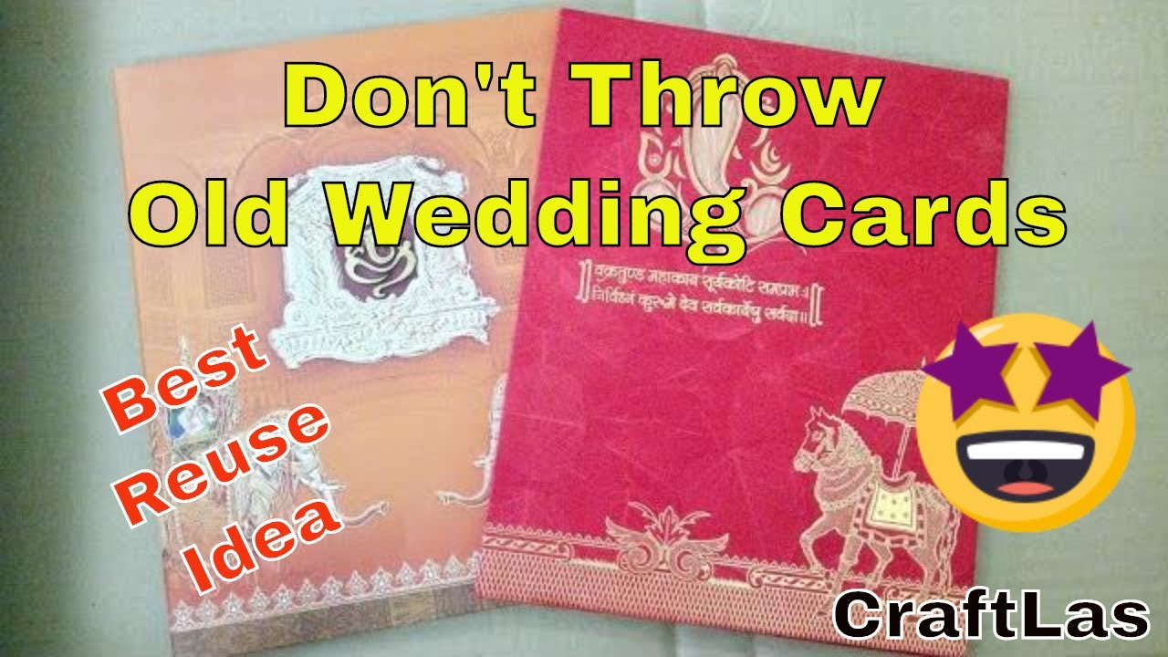 Best Use Of Old Wedding Cards   Best Out Of Waste   CraftLas - YouTube