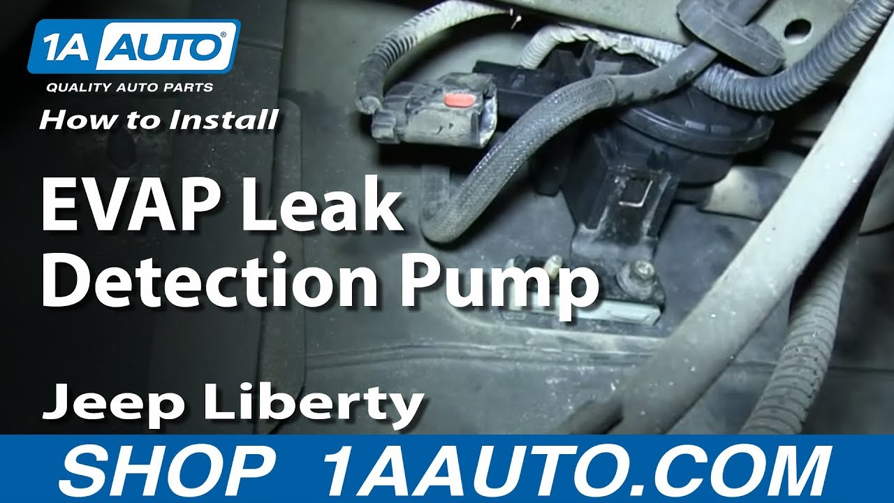 hight resolution of how to install replace evap leak detection pump 3 7l 2004 06 jeep liberty youtube
