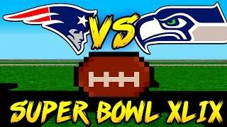 patriots vs seahawks super bowl xlix in minecraft