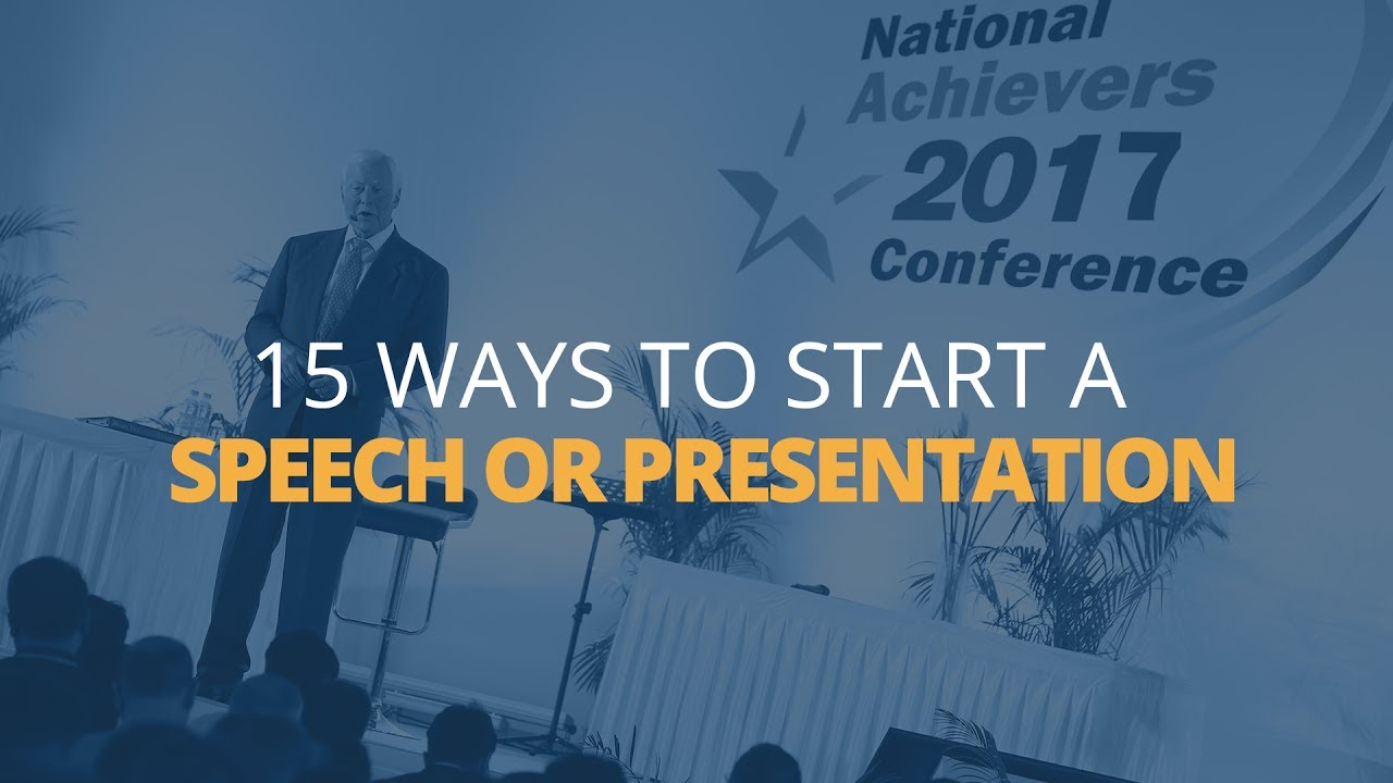 how to start a presentation # 1