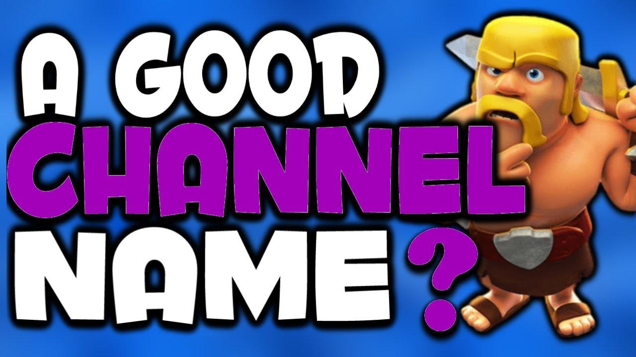 how to create a good youtube name