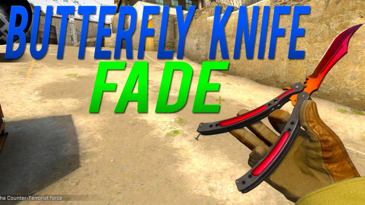 how to make a butterfly knife fade out of wood