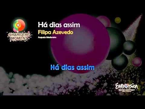 2010] Filipa Azevedo   Há Dias Assim (Portugal)   [Karaoke version]   YouTube