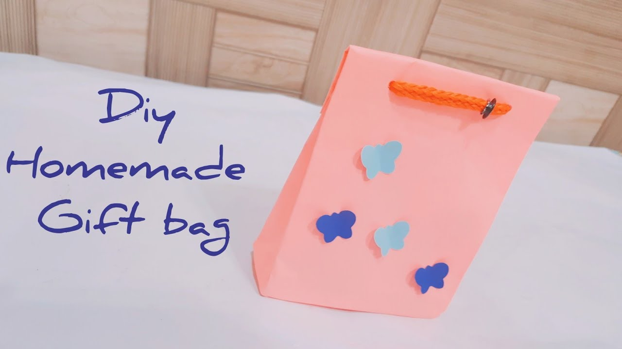 How To Make A Paper Gift Bag Easy Handmade Crafts Handi Works