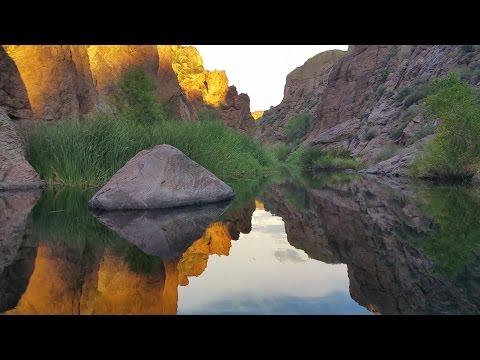 Dusk at Tortilla Creek ASMR (scenic, soft paddling, water sounds)