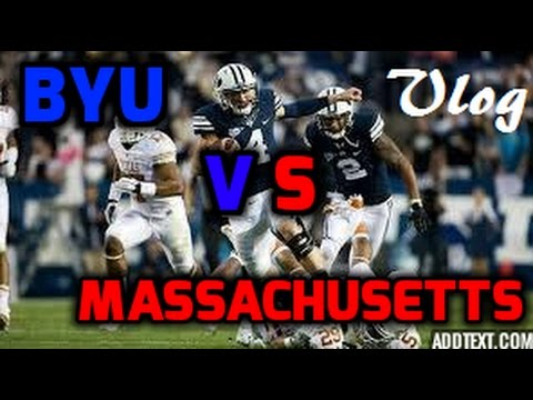 BYU VS Massachusetts Football Game - Vlog - YouTube